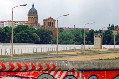 An der Mauer in Berlin im September 1987